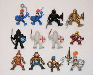 12x Fisher Price Great Adventures Castle Knights Black Gold Blue Figures A57