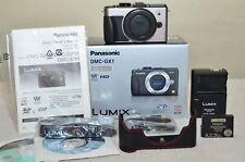 Panasonic LUMIX DMC- GX1 16.0MP (Silve) w/ Box, Half Case_ Only 638 Clicks_ MINT