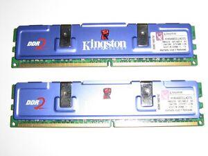 KINGSTON KHX6400D2K2/2G DDR2 HyperX PERFORMANCE RAM KIT 2gb total Mac or PC #1