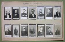1900 (14) PHOTOS COLLECTION - French Poets Writers Lemaitre Roux de Lisle