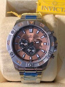 Invicta Stainless Steel Pro Diver Chronograph Quartz Watch Model #23494 NIB
