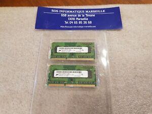 2 Barrettes MICRON MT8JTF25664HZ-1G6M1 2GB 1Rx8 PC3-12800S-11-11-B2