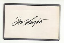 DON SLAUGHT NEW YORK YANKEES PITTSBURGH PIRATES AUTOGRAPHED INDEX CARD