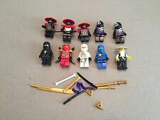 Lego Ninjago Minifig Lot of 10 Minifigs 4 Ninjas Weapons Lot A360