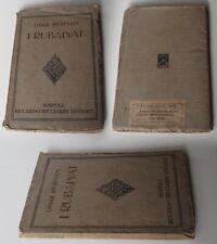 Omar Khayyam  I RUBAIYAT Riccardo Ricciardi Editore - 1914