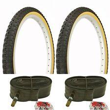 "Two 24x1.75"" BMX BLACK GUM WALL Comp 3 design tires & TUBES"