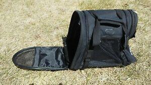 Bergan Small Pet Dog Cat Carrier Soft Side Black Nylon Crate Travel Shoulder Bag