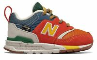 New Balance Kid's 997H Infant Boys Shoes Orange with Red