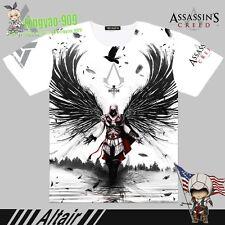 ssassin's Creed altair Anime White Short sleeve T-Shirt Full Print TeeTop #52