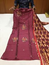 Heavy Silk dupatta and masleen kurtis with hand embroidery