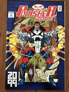Punisher 2099 #1 (Feb 1993, Marvel) foil stamped cover; Jake Gallows
