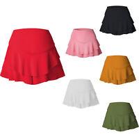 Ladies girls Ruffled High Waisted Ra RA Frill Ladies Party Shorts Mini Skirt