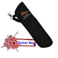 1 Archery Quiver Back Waist Side Black Bag Arrow Bow Holder Pouch Target Hunting