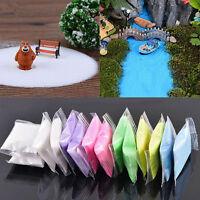 1 Bag Colorful Quartz Sand Miniature Dollhouse Bonsai Pot Fairy Garden Decor DIY