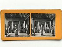 Museo Del Louvre Escultura París Francia Fotografía Estéreo Vintage Analógica