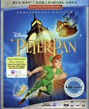 PETER PAN ANNIVERSARY EDITION(BLU-RAY+DVD+DIGITAL HD)W/SLIPCOVER NEW