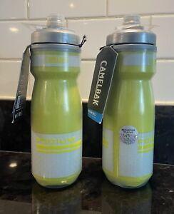 2 Pack Camelbak Podium Chill Bike Cycling Water Bottle 21oz, Reflective Yellow