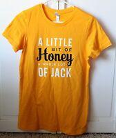Jack Daniels Womens Tennessee Honey Yellow Tee Size XL ~ NEW W/O Tags~ CUTE!!!