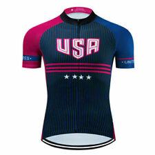 USA States Cycling Jersey Bike Shirt Bicycle Motocross Sports Clothing Race Ride