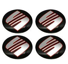 4 Hubcap Stickers Bolts Alloy Wheels 56mm Compatible SEAT Ibiza Leon Toledo Inca
