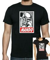 Star Wars :MANDALORIANS : Mando: Obey style T-shirt .. available up to 5 X Large