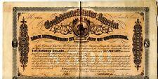 1864  $500  Confederate Bond.  Second Series