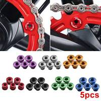 5PCS DECKAS BICYCLE CHAINSET BOLTS FOR SINGLE CHAINRING ALLOY FIXIE ROAD MTB UK