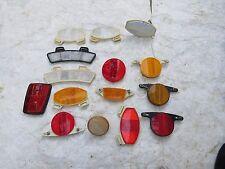 RANDOM 1970S WHEEL REFLECTORS  VINTAGE AMBER RED CENTURION NISHIKI ROAD BICYCLE