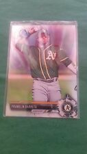 FRANK BARRETO  2017 BOWMAN CHROME ( ROOKIE ) REFRACTOR BCP-115 A'S SP #/499