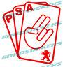 Vinilo de corte Pegatina PSA Peugeot CARTAS sticker decal GRUPO PSA 106 206 308
