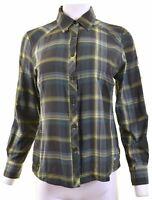 COLUMBIA Womens Shirt Size 14 Medium Multicoloured Check Nylon  EL04