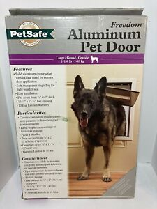 PetSafe Freedom Aluminum Pet Door Large Doggie Door Up To 100lbs