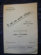 Partition Il est un petit village Eddy Jura Cuypers Music Sheet