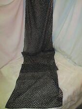 Vintage Hong Kong Jacque & Koko 100% polyester Woman's Scarf black white Dots