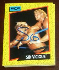 Sid Vicious Signed Auto'd 1991 Impel WCW Rookie Card RC #33 Autographed WWE WWF