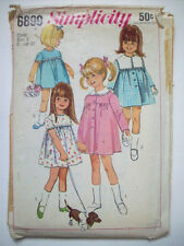 Toddler detachable collars 1-pc dress & coat  pattern 6899 size 3