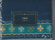 Tommy Hilfiger Dharma Aqua Twin Bed Skirt Blue New 1st Quality