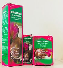 Nature Secrete Whitening Milk, Treating Oil & Soap with Collagen *Nogbou Creams*
