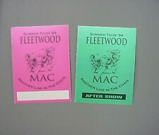 Fleetwood Mac satin cloth backstage passes 2 from 94