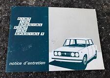 VINTAGE @ RARE NOTICE D'ENTRETIEN POUR FIAT 124 SPECIAL @ BON ETAT !!