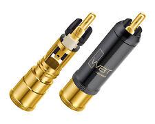 4 x WBT-0152 Cu nextgen Cinchstecker + TORX RCA connectors 0152Cu bis 10,8mm