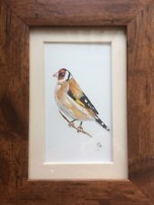 Original Framed Watercolour Painting Birds : Goldfinch By Lisa EVANS