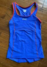 Zoot Womens Performance Triathlon Tri Tank Top Small Mesh Pockets | Blue Rec