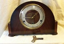ANVIL PERIVALE WESTMINSTER CHIME MANTLE CLOCK WITH PENDULUM & KEY IN E.W.O AN1