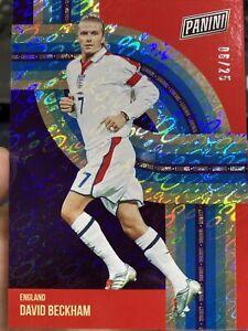 2021 National Panini Pack David Beckham 6/25 England SP Soccer NM+ #LEG1