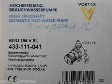 """Vortex Brauchwasserpumpe BWO 155 V SL 1/2"""" Nr. 433-111-041 für Warmwasser Neu"""