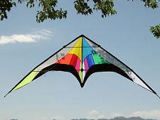 "Stunt Kite Dual Line Huge 102""x 30"" + RipStop Nylon Material + Lines + Carry Bag"