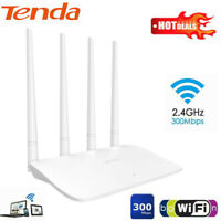 Tenda F6 2.4GHz 300Mbps 4 High Gain Antennas 1 WAN + 3 LAN WiFi Router Repeater