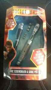 Dr who figures 10th Dr Sonic Screwdriver + Sonic Pen Set. Rare New In Box