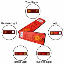 2x LED Tail Light Truck UTE Trailer Stop Indicator Lights 12V for Caravan